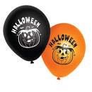 Halloween ballonger svarta och orange 10-pack