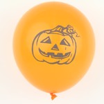 Orange halloween ballonger