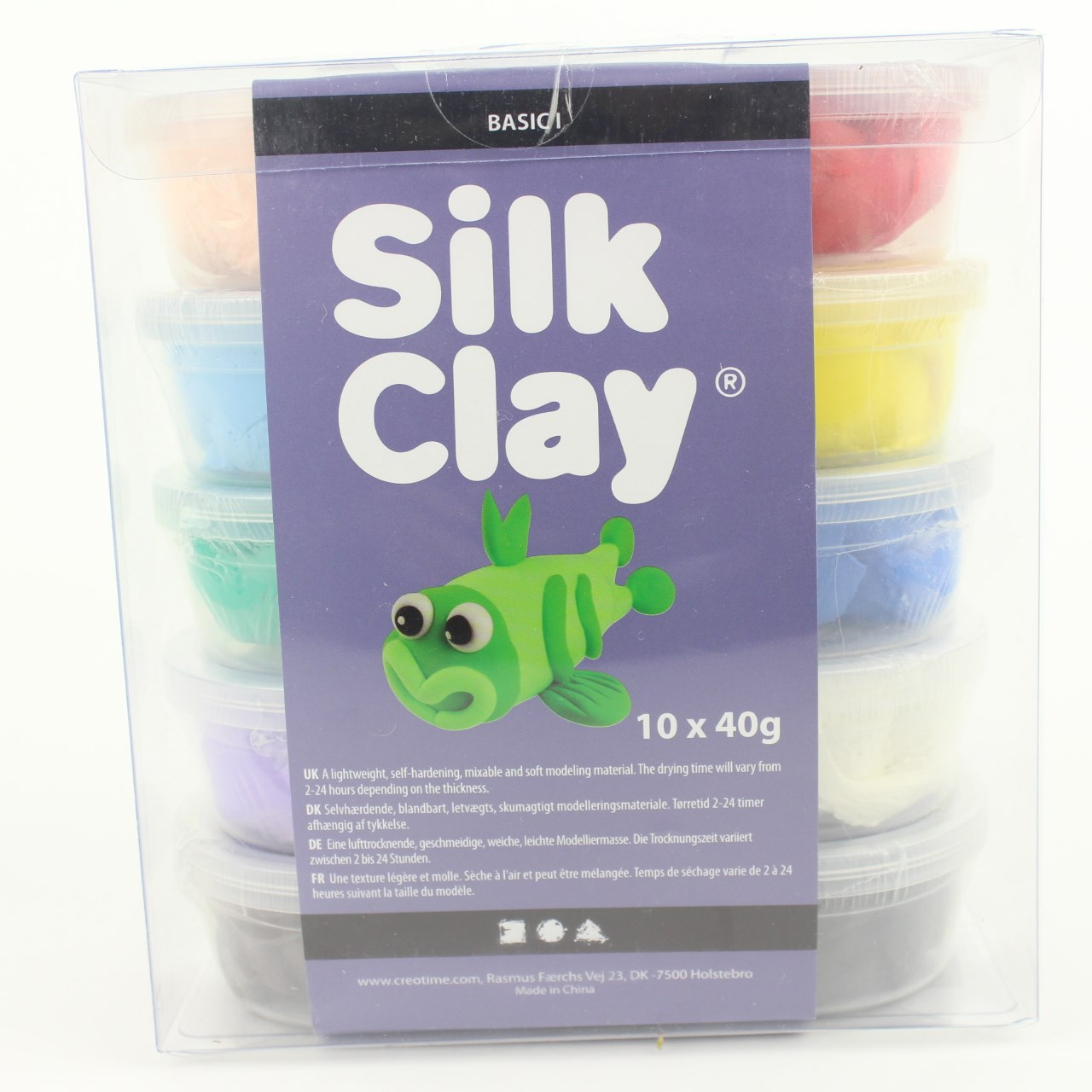 Silk Clay Basic 1 10x40 gr standardfärger