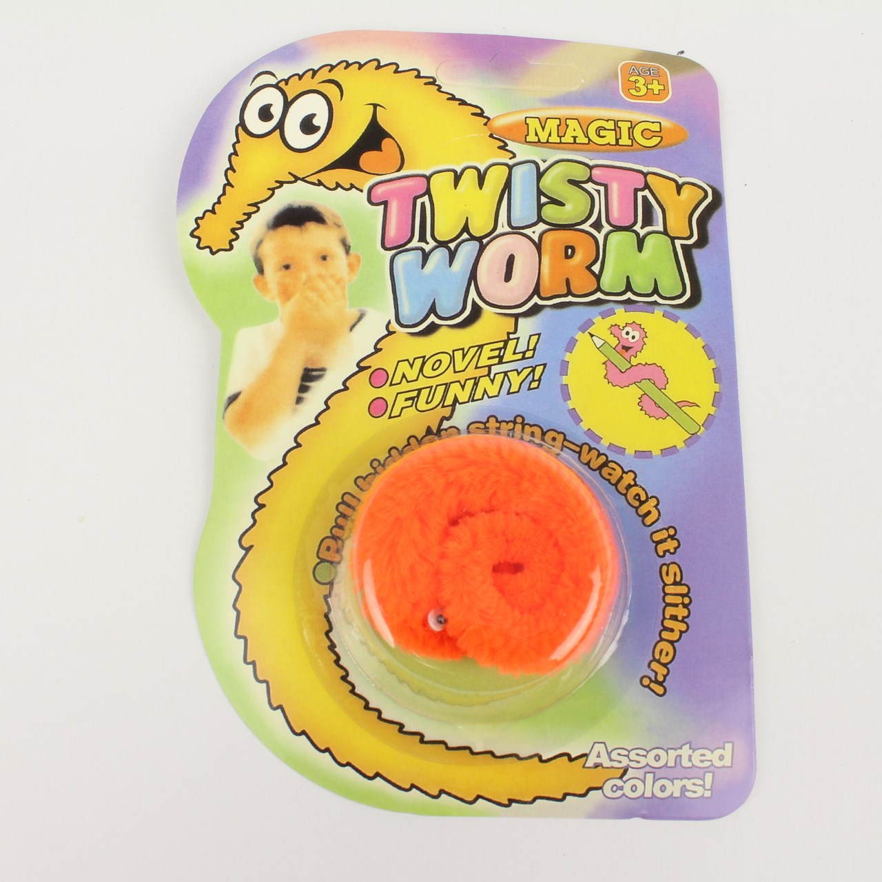 Orange twisty worm