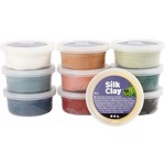 Silk Clay Basic 3, 10x40 gr, dova färger