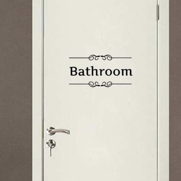 Wallsticker med texten Bathroom